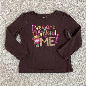 Jumping Beans Thanksgiving Long Sleeves Shirt 3T